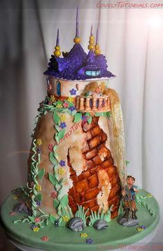 Название: rapunzel tower cake tutorial 1.jpg Просмотров: 0  Размер: 228.2 Кб