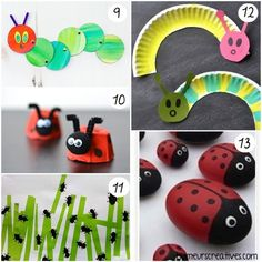 58 bricolages de printemps pour les enfants - Busy Bags, Diy For Kids, Baby Toys, Activities For Kids, Origami, Projects To Try, Animation, Scrapbook, Crafts