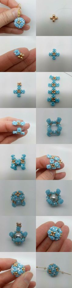 picture tute .....covered beaded bead ~ Seed Bead Tutorials