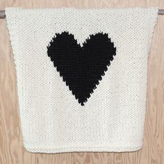 Knitted Heart Baby or Lap/Throw Blanket by YarningMade on Etsy, $75.00