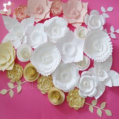 High quality and cheap cost large wedding backdrop paper flowers for hot selling white giant paper flower wall artificial wedding decoration white silk flower wall mightylinksfo