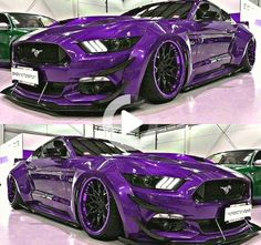 The Purple One custom widebody Mustang GT - Auto 2019 Ford Mustang Shelby Gt500, Widebody Mustang, Ford Mustang Eleanor, Ford Mustang Bullitt, 2015 Mustang, Mustang Cars, Carros Audi, Huracan Lamborghini, Maserati