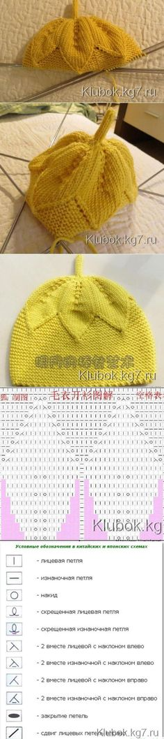 "Детская шапулька- спицами | Клубок [ ""Find and save knitting and crochet schemas, simple recipes, and other ideas collected with love."" ] #<br/> # #Mothers,<br/> # #Hats,<br/> # #Tissues<br/>"
