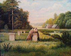 Bear at the apiary, 2012 - Kashirin Stepan Vladimirovich