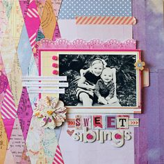"""Soleil Collection on Blitsy for $12.80 (reg $16.00).  Pack includes 12 (12"""" x 12"""") double-sided papers, one sheet coordinating alphabet stickers and one sheet coordinating element stickers. Acid & lignin free. sweet siblings   Kelly Noel"""