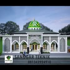 Hasil gambar untuk model masjid 2 lantai minimalis