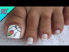 YouTube Toe Nail Art, Nail Art Diy, Diy Nails, Cute Nails, Dream Catcher Nails, Nail Art Videos, Toe Nail Designs, Manicure And Pedicure, Pedicures