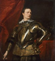 Sir Anthony van Dyck - Portrait of a Young General, Oil on canvas, x 104 cm, Kunsthistorisches Museum, Vienna Anthony Van Dyck, Sir Anthony, Anton Van, Roi Charles, Potrait Painting, Baroque Painting, Art Through The Ages, Johannes Vermeer, Hieronymus Bosch
