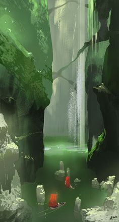 Green caves by ani-r