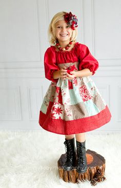Girls Dress Festive Holidays by SunLoveShirts by SunLoveShirts, $59.00  Like fabrics