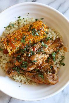 Pressure Cooker Stewed Chicken with Corn (Pollo Guisado con Maiz)   Skinnytaste