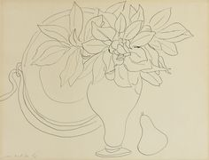 Henri Matisse 1869 - 1954 NATURE MORTE Signed Henri Matisse and dated 9/41 (lower left) Pen and ink on paper 16 1/8 by 20 7/8 in. Executed in September 1941 | Sotheby's