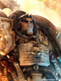 Warhammer 40K Grey Knight Terminator , Johannes Helgeson on ArtStation at https://www.artstation.com/artwork/K4DGG