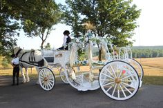 Our newest carriage decked out with flowers. www.carriagerentals.com