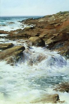 "Cindy Baron  ""Water Ballet""  Watercolor   16"" x 24"""