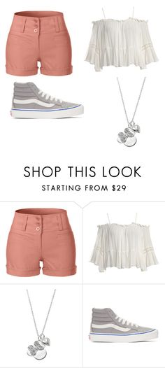 """Fangirl"" by emmylong04 on Polyvore featuring LE3NO, Sans Souci, Disney and Vans"