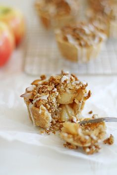 LOVE!! Mini Iced Oatmeal Cookie Apple Pies from @stephmwise at girlversusdough.com. #apple #applepie
