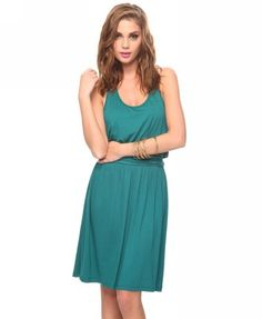 Ruched Waist Racerback Dress from Forever21.com