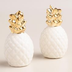 Boston Warehouse Gold Pineapple Salt & Pepper Shakers | zulily ...
