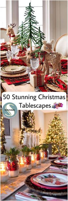 Christmas Table Decorating Ideas on Home Decor Ideas 5192 Woodland Christmas, Rustic Christmas, Christmas Home, Christmas Holidays, Christmas Wreaths, Christmas Crafts, Christmas Table Settings, Christmas Tablescapes, Christmas Table Decorations