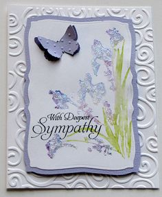 Elegant deepest sympathy watercolor flower by catSCRAPPIN on Etsy