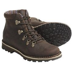 cute hiking boots Merrell Wilderness Valley Lace-Up Boots - Leather, Insulated (For Women) in Brown: