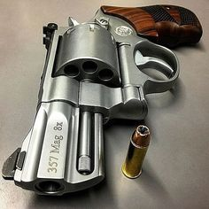 Not a rare revolver as related by some, just expensive due to its Smith performance center custom state. There are a bunch of them on gun brokers if you're interested. Smith And Wesson Revolvers, Smith N Wesson, 357 Magnum, Weapons Guns, Guns And Ammo, Home Defense, Cool Guns, Shotgun, Bushcraft