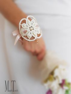 Bridal jewelry art nouveau OOAK soutache bracelet gift idea for her wedding…