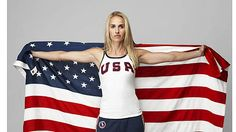 USA soccer player Heather Mitts in Ralph Lauren apparel.