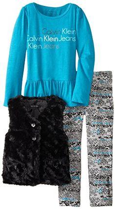 Calvin Klein Little Girls' 3 Piece Fuzzy Vest Set, Blue, 4 Calvin Klein http://www.amazon.com/dp/B00K0KD0KC/ref=cm_sw_r_pi_dp_KoJEub1GJWP3B