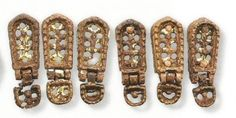 Övveretek ‒ Vörs-Papkert B Pannonian Avars AD Viking Jewelry, Ancient Jewelry, Warrior Outfit, Ancient Vikings, Archaeology, Gold Rings, Clothing, Projects, Art