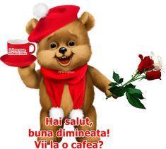 BunaDimineataImagini.ro - Descărcați Imagini de Bună dimineața și o zi frumoasă pentru Facebook și Whatsapp! Heart Images, Tigger, Disney Characters, Fictional Characters, Teddy Bear, Animals, Facebook, Coffee, Animales