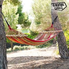 Adventure Goods Multicoloured Hanging Hammock - Outside Furniture