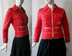 1960's / early 1970's ski / winter jacket red by afterglowvintage, $28.00