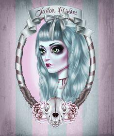 Pastel Bleedin - Slit Throat/Sailor Jassie by mai-coh.deviantart.com on @deviantART