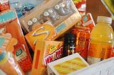 I love giving presents. If I needed a back up job I would totally put together fun gift baskets! And Since I love color too….Let's combine the two! Fun themed gift baskets for all occasions! A cherry on top  source ORANGE you glad source source source source SUNSHINE basket source source source source source …