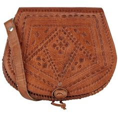 Warehouse Tooled Across Body Handbag, Tan ($43) ❤ liked on Polyvore featuring bags, handbags, shoulder bags, accessories, purses, fillers, leather shoulder bag, brown leather handbags, leather crossbody satchel and shoulder handbags
