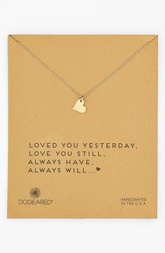 Dogeared 'Sparkle Heart' Boxed Pendant Necklace available at #Nordstrom