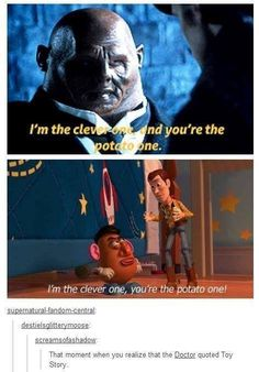 The Doctor seems to have a secret love of Disney movies. I think we all remember when Ten started quoting The Lion King in his first episode. ❤️