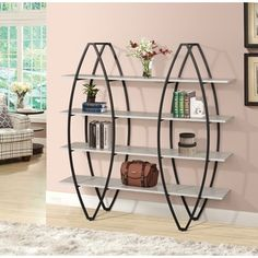 Eve 4-tier Book Shelf | Overstock.com Shopping - The Best Deals on Media/Bookshelves