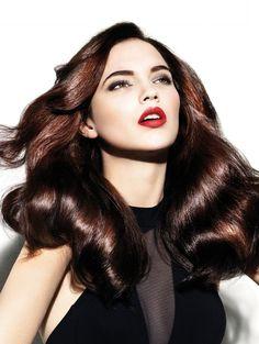 Multitonal Dark Red Hair Color