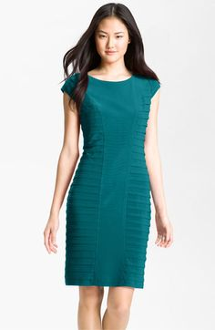 Free shipping and returns on Adrianna Papell Pleat Panel Jersey Sheath Dress at Nordstrom.com. Architectural shutter-pleat panels shape the curvaceous silhouette of a cap-sleeve jersey sheath dress.