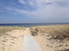 Path to New Hampshire beach