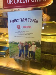 Family Farm to Foil! Beretta is at Chipotle!