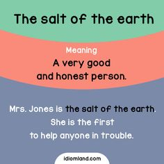 Who is the salt of the earth for you? #idioms #english #learnenglish