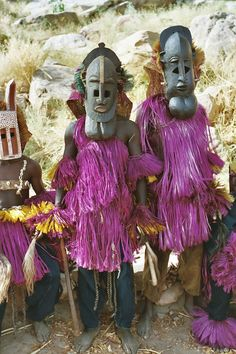 Africa | Dogon masqueraders/dancers from Mali | ©Frans Devriese