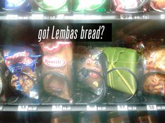 I'd freak if I saw Lembas in a vending machine.