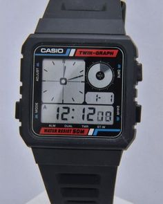 Casio AE-20W: This is the watch I had when I was a kid. Now £140.00 plus shipping. Again, I sold it for $5 to a kid in my freshman biology class.    Kids have short time horizons. Miss the hell out of this watch. - watches, gold, leather, minimalist, skagen, cool watch *ad