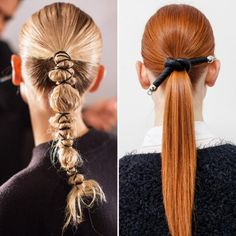 We try not to play favorites, but the good ol' ponytail might be our most beloved hairstyle ever. It's perfect when you need to throw your hair back in a pinch and can also beautifully take the place of an intricate updo. It's an effortless 'do that… Braided Ponytail, Ponytail Hairstyles, Diy Hairstyles, Wedding Hairstyles, Hair Inspo, Hair Inspiration, Inspo Cheveux, Hair Arrange, Editorial Hair
