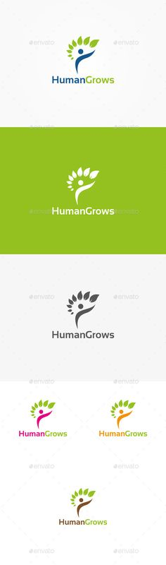 Human Growth - Logo Design Template Vector #logotype Download it here: http://graphicriver.net/item/human-growth-logo/9996111?s_rank=1546?ref=nexion
